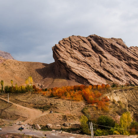 Alamut, fortress of the Assassins in Iran